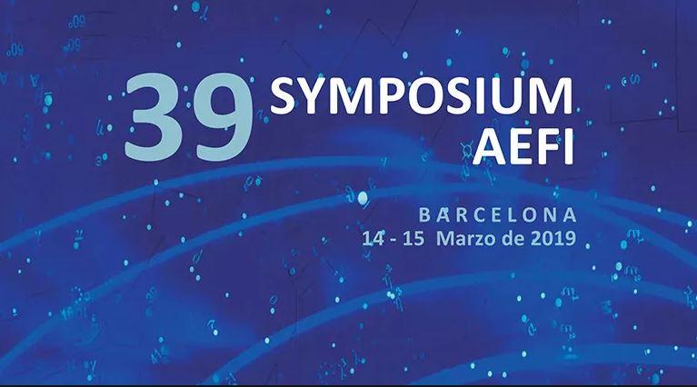 Estaremos en el Symposium AEFI 2019