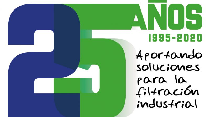 ¡25 Aniversario! Desde 1995 Aportando soluciones para la filtración industrial